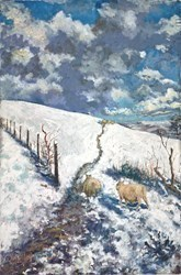 Snowy Flock by Timmy Mallett -  sized 20x30 inches. Available from Whitewall Galleries
